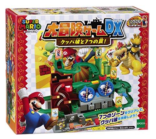 エポック(EPOCH) スーパーマリオ 大冒険ゲームDX クッパ城と7つの罠! 29x27.4x15.8cm