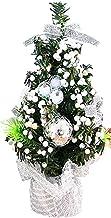 SOJOR Mini Christmas Tree Bouquet Seasonal Ornament with Xmas Balls Decor Fake Christmas Tree Desktop Ornament for Party 20cm