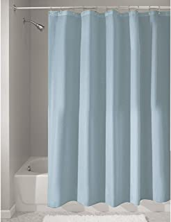 iDesign Fabric Shower Curtain, Water-Repellent and Mold- and Mildew-Resistant Liner for Master, Guest, Kid's, College Dorm Bathroom, 72