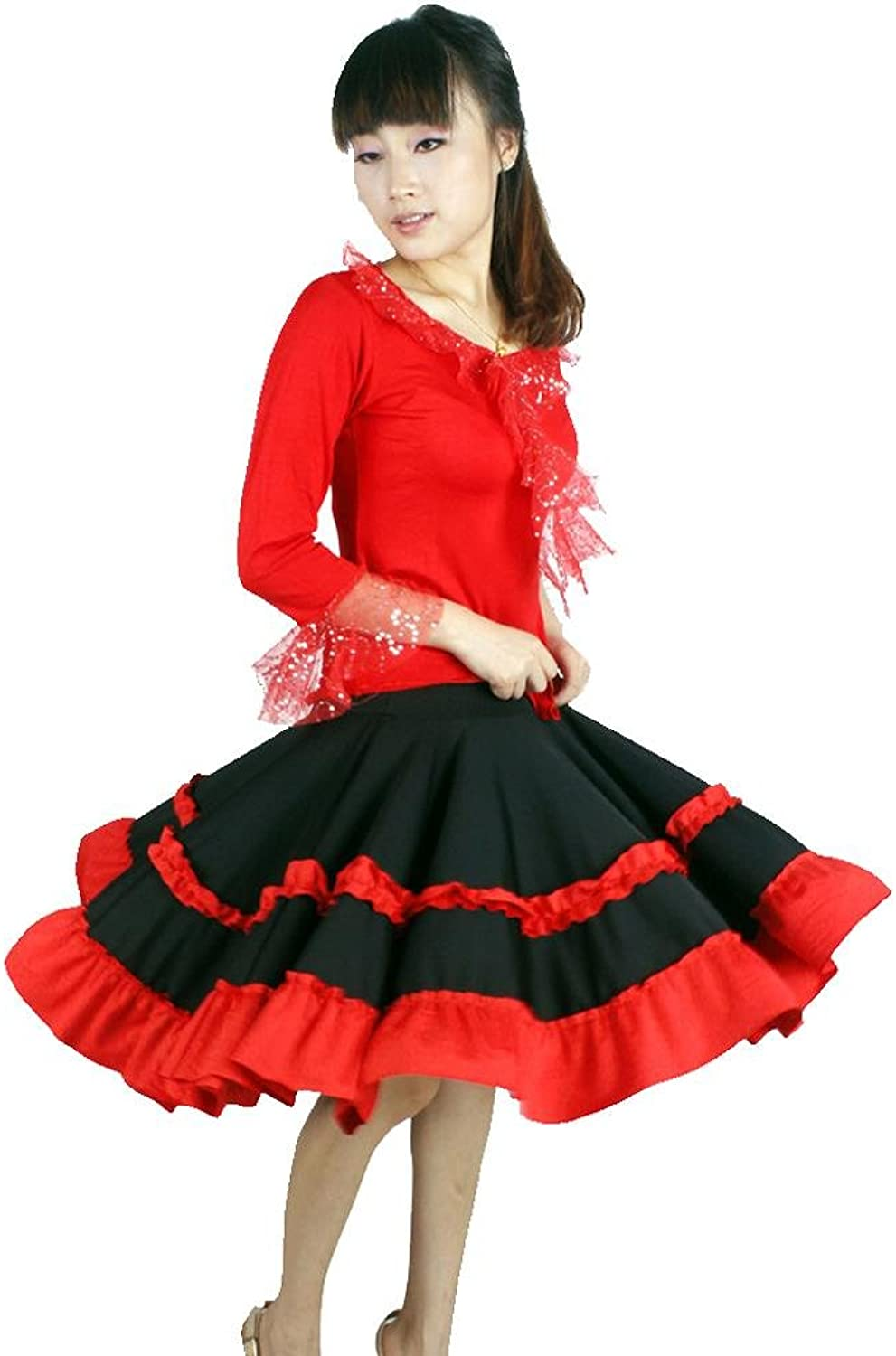 Byjia Latin Square Dance Dress Yoga Pompry Ballroom Costume Big Pendulum Skirt Practice Match Uniforms Professional Performance Women Sets
