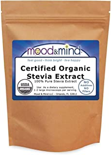 Organic Stevia Extract Powder NO FILLERS! 1 lb/16 oz(448g)