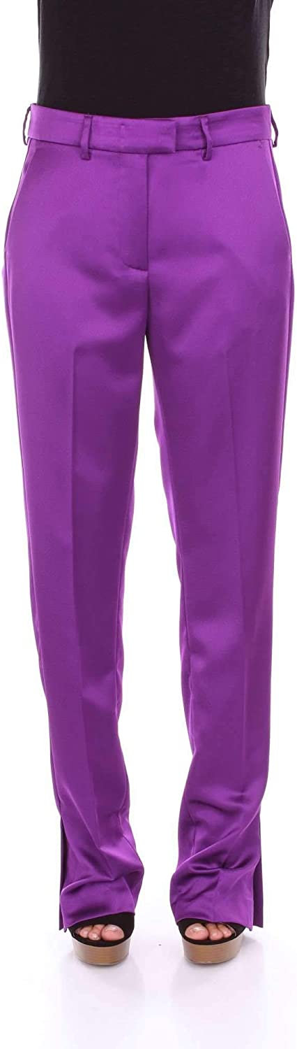 MSGM Women's 2442MDP116B18430214 Purple Cotton Pants