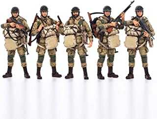 JOYTOY 1/18 Action Figures 4-Inch WWII US Airborne Division Figure PVC Military Model Collection Toys