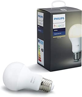 Philips Hue Bombilla Inteligente LED E27, 9.5 W, Luz Blanca Cálida, Compatible con Alexa y Google Home