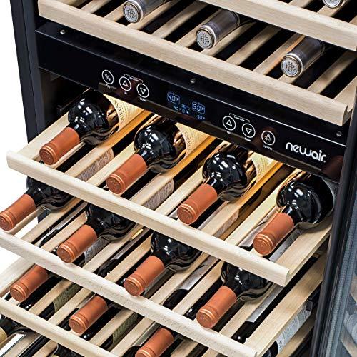 NewAir AWR-1160DB Wine Cooler, 116 Bottle, Stainless Steel/Black
