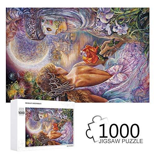 43LenaJon Josephine Wall - Puzzle da parete con maschera di amore, edizione glitterata, 1000 pezzi, per adulti, giochi educativi da parete