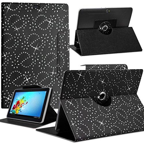 Seluxion-Funda universal M, diseño de diamantes, color negro para tablet BQ Curie 2 8