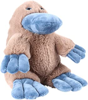 JASOON Stuffed Animal Toy Platypus Plush Doll, Brown Hairy Blue Paws, Children Favorite Platypus Toy—12 Inches Brown