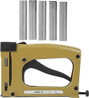 Manual Nail Gun, HM515 Brad Nailer, Cordless Pin Gun, with Industrial Grade Design, for Furniture Production, Interior Dec...