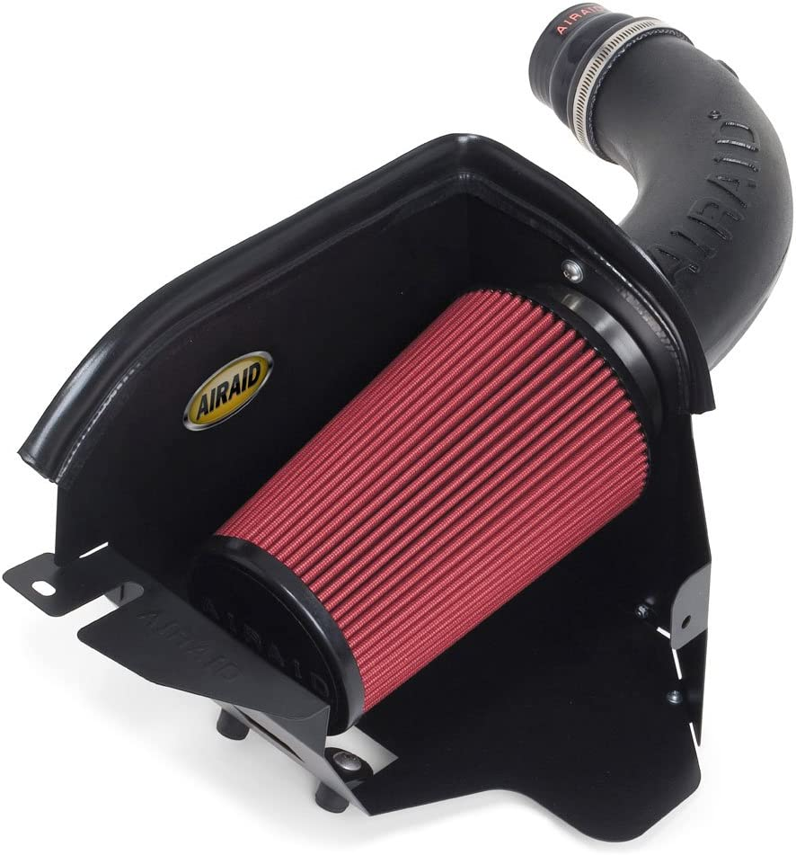 Airaid 312-208 Cold Air Dam Intake System with Black SynthaMax Dry Filter for Jeep Wrangler JK 3.8L V6 2007-2011
