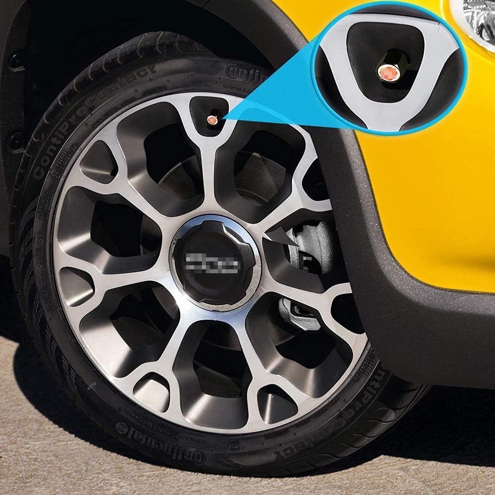 4 Pi/èCes Capuchon De Valve Antivol De Voiture pour Fiat 500 500c Aegea Doblo Panda Uno Palio Alliage de Zinc Roue De Voiture Tige De Pneu Tige De Valve DAir Couvre-Poussi/èRe Bouchons Anti-Poussi/èRe