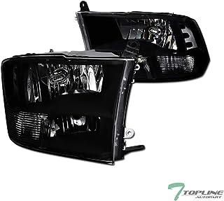 Topline Autopart Quad Headlamp Style Black Clear Housing...