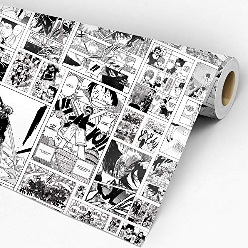 Papel De Parede Adesivo Mangás One Piece Naruto Death Note Bleach
