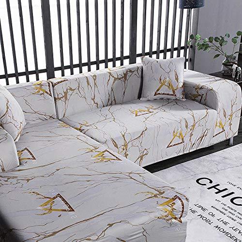 ASCV Fundas de sofá Funda de sofá en Forma de L Funda de sofá elástica para Sala de Estar Chaise Lounge Funda seccional A5 2 plazas