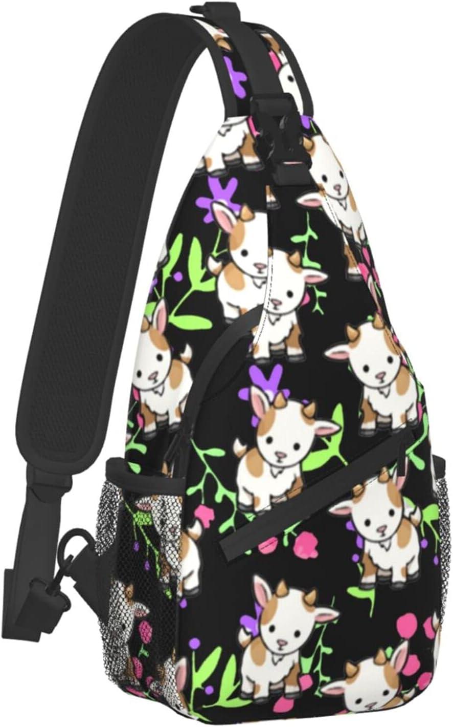 Sling Max 49% OFF Backpack Travel Hiking Daypack Baby Goats Cros 2021 model Kawaii Rope