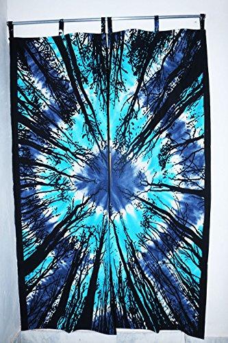 Future faite à la main 5 pcs Ensemble de rideaux faite à la main fenêtre de porte à suspendre Coque Rideaux Living Home Decor fenêtre traitements Rideaux Unique Rideau Coton indien Drapes Cantonnière Mandala Rideaux, Coton, Pack 3, PACK 1 (81\