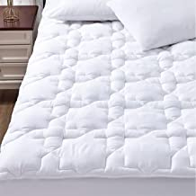 CozyLux Cotton Mattress Pad Cover Queen Size Bed Deep Pocket Non Slip Oeko Tex Quilted Fitted Soft Mattress Topper Up to 1...