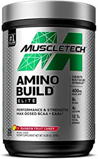 MuscleTech Amino Build Elite Intra-Workout Powder, Performance & Strength Support, BCAA + EAAs - Add Lean Muscle & Muscle ...