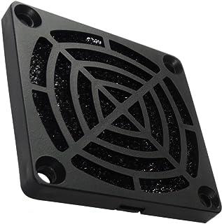 AERZETIX: 2 x Rejilla Negra de protección C15114 60x60mm ventilación con Filtro 30ppi de Polvo para Ventilador de Caja de Ordenador PC