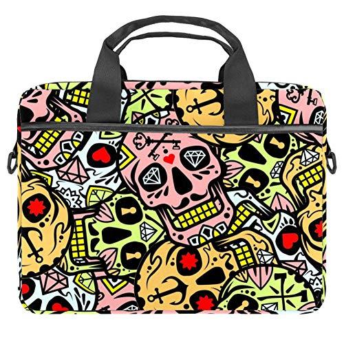 nahtlose laptoptasche mit totenkopf motiv