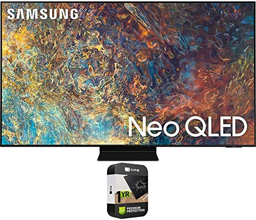 Samsung QN55QN90AAFXZA 55 Inch Neo QLED 4K Smart TV 2021 Bundle with Premium 1 Year Extended Protection Plan