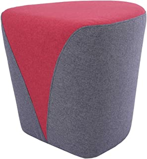 Sunon Heart Pouf Ottoman, 18.1L x17.7W x17H Vanity Stools, Matched Fabric Small Ottoman Foot Rest and Nesting Stool (Red)