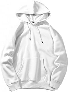 Mogogo Mens Raglan Sleeve Stitching Hooded Pocketed Pullover Sweatshirt