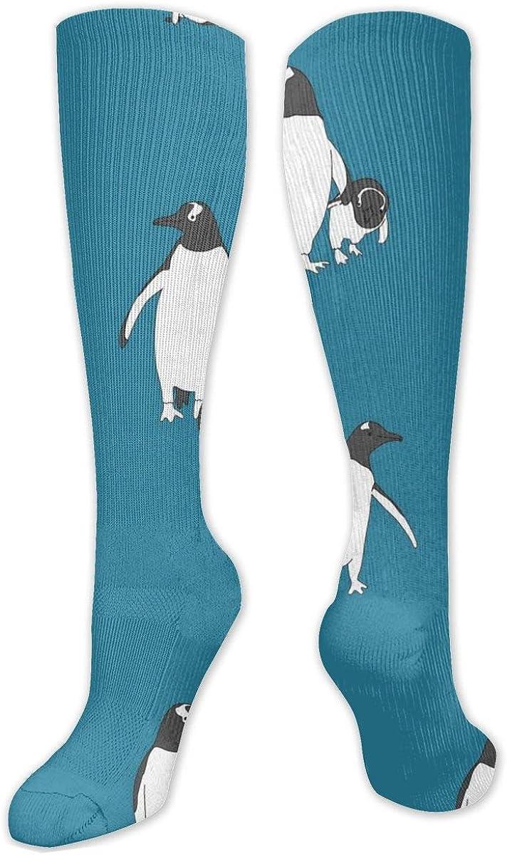 Cute Penguin Knee High Socks Leg Warmer Dresses Long Boot Stockings For Womens Cosplay Daily Wear