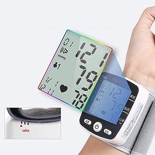Blood Pressure Meter LCD Digital Display Muñeca Automática Monitor De Presión Arterial con Brazalete Hogar Uso Tensiómetro Tonómetro