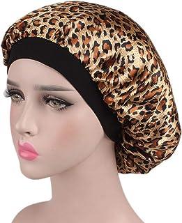 Aligogo 1 Pack Satin Bonnet Night Sleep Caps for Women Long Hair, Braids, Curly Hair, Dreadlocks,Double Layer, Soft Elasti...