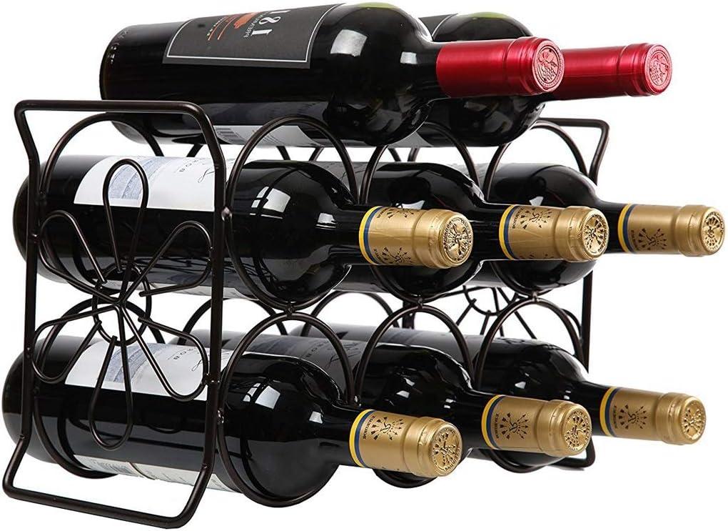 XYSQ Vinotecas Botellas, Botellero Madera Almacenaje del Vino Estante, Vino Estante De La Barra Utensilios Bebidas Rack, Rack De Hierro Manera De La Decoración Gabinete del Vino Estante De Exhibición