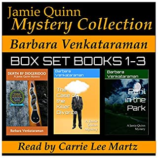 Jamie Quinn Mystery Collection: Box Set Books 1-3                   By:                                                                                                                                 Barbara Venkataraman                               Narrated by:                                                                                                                                 Carrie Lee Martz                      Length: 9 hrs and 7 mins     39 ratings     Overall 3.8