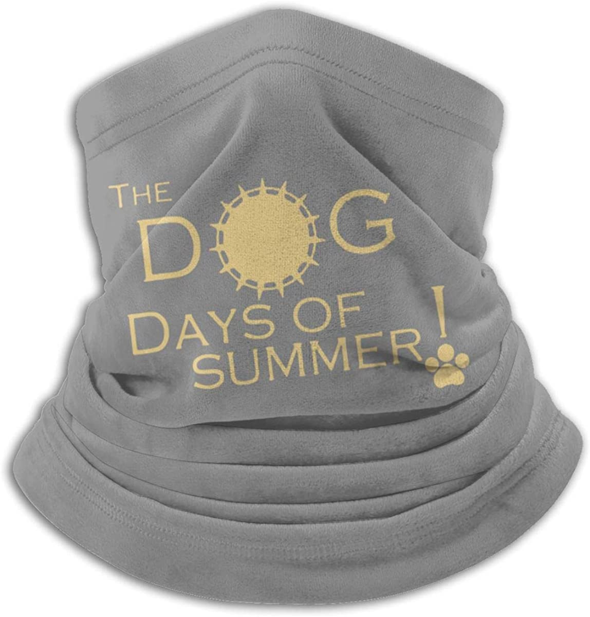 Dog Day Of Summer Black Multi-function Neck Warmer Gaiter Polyester Neck Warmer Windproof Winter Neck Gaiter Cold Weather Scarf For Men Women