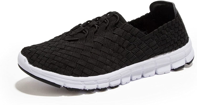 Mandaartins Women Breathable Women Flats shoes Light Loafers Weave Walking shoes