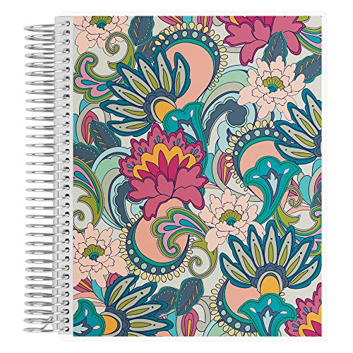 """8.5"""" x 11"""" Playful Paisley Spiral Coiled College Ruled Notebook. 160 Lined Page Writing, Drawing & Art Book. 80Lb Heavy Duty Mowhawk Paper by Erin Condren"""