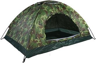 Camouflagetent, draagbaar en lichtgewicht 170T polyester met zilveren coating Buitentent voor wandelen voor kamperen voor ...