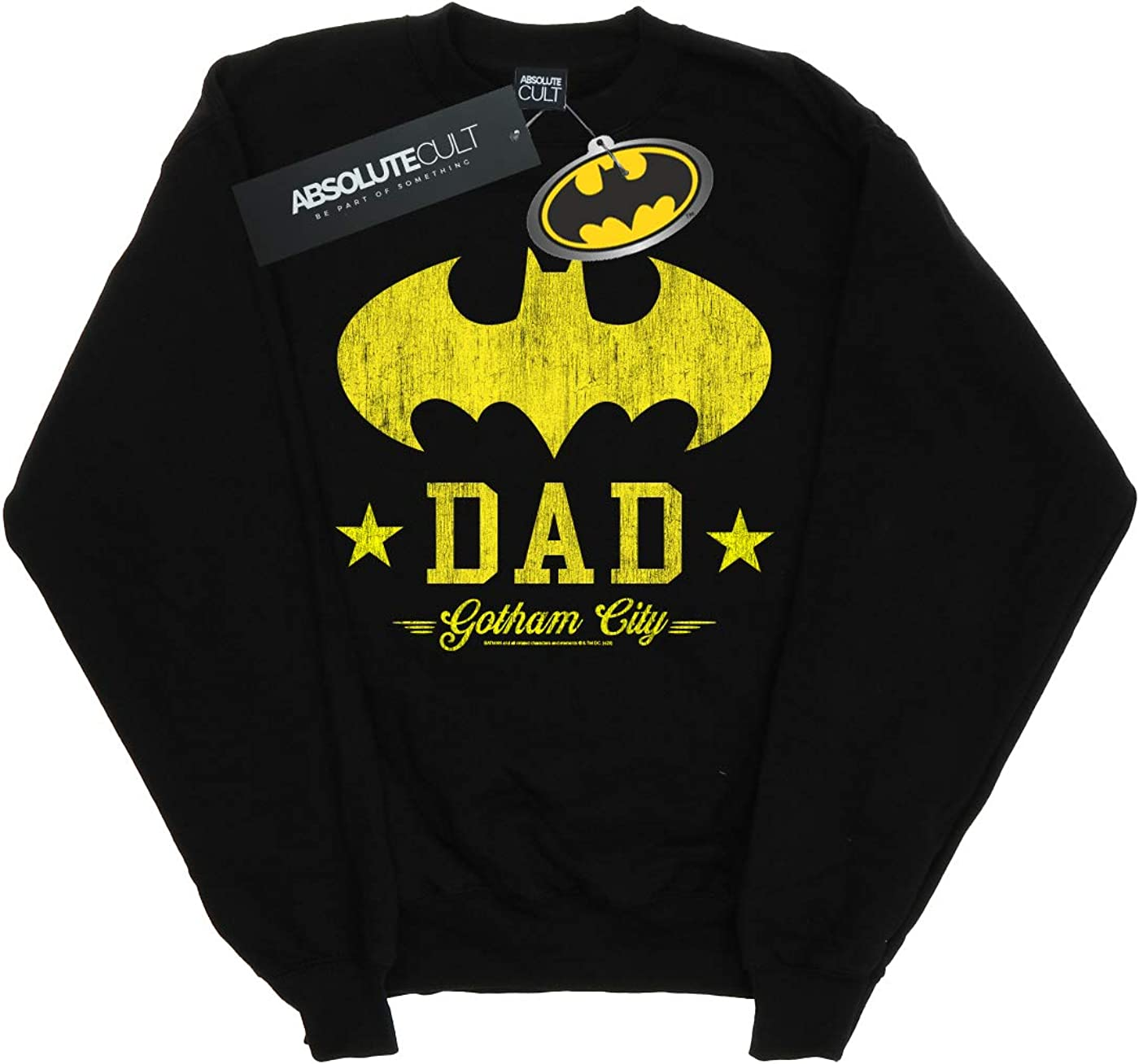 DC Comics Homme Batman I Am Bat Dad Sweat-Shirt Noir