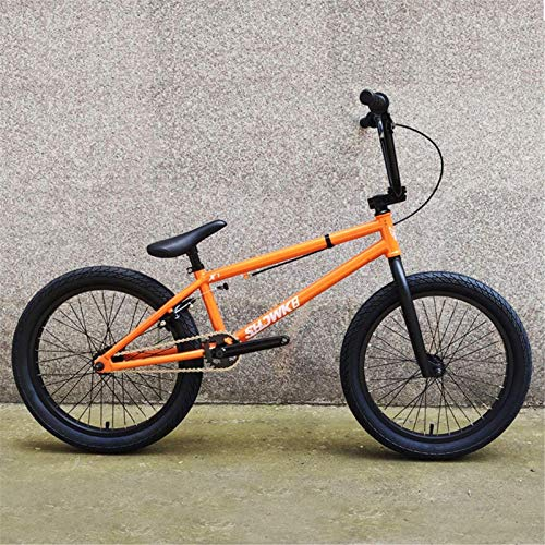 HCMNME Durable Bicycle 20-Inch Professional Grade Adults BMX Bike, Beginner-Level to Advanced Riders BMX Race Bike, High Strength Carbon Steel Frame, Men Women General Alloy Frame with Disc Brak
