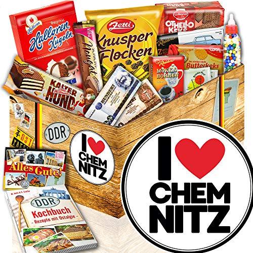 I love Chemnitz / Ost Paket + Süßigkeiten / Chemnitz Geschenkkorb