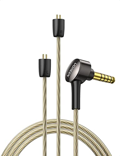 new arrival UGREEN 4.4MM Earphone Replacement Wired Balanced high quality Earphone Cable HiFi Sound Detachable Headphone Cable Replacement Compatible with BL03 V80 KZ ZS10 discount PRO ZS10 AS10 ZS6 ZST ZSR TRN 4 Feet (2 Pin 0.78mm) sale