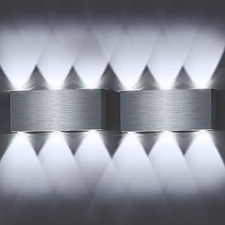 Lovebay 6W LED Applique Murale Moderne, Up Down Aluminium Lamp de Mur Intérieure pour Hôtel Couloir Salon Chambre Blanc Fr...