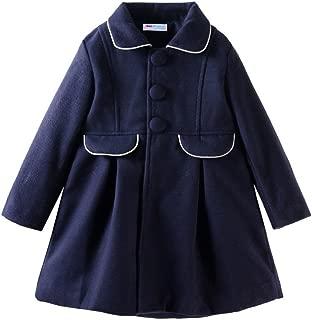 Little Girls Peacoat Dress Coat Slim