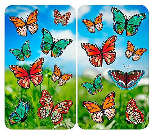 Wenko Abdeckplatte Schmetterling, 2er Set