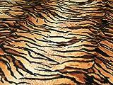 Tiger, Fleece-Stoff, Anti-Pilling, Meterware, Braun