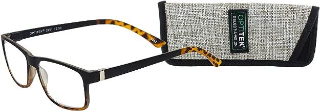 Select-A-Vision Optitek Tri-Focus Computer Reading Glasses, Black Demi, 2.00