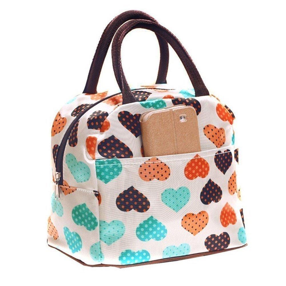 Tpocean Lunch Bag,Waterproof Lovely Canvas Lunch Box for Women Kids Girls Adults