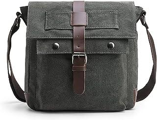 Verlenpaple Canvas Bag 11 Zoll Tablet Männer Messenger Bag Schultertasche Multifunktions Umhängetasche Herren