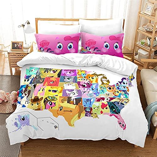 155X220 Cm Copripiumino My Little Pony Con Federa Microfibra Morbida Comodo Bedding Singolo Per Bambini E Adulti Copripiumino Matrimoniale Bambini
