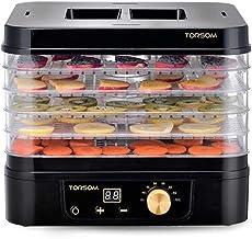 Máquina de conservación de alimentos para el hogar Deshidratador de alimentos, pantalla táctil inteligente eléctrica Temperatura regulable Sincronización Silencio 5 capas Placa de cristal de plástico