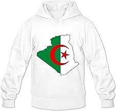 Algeria Flag Map Hot 100% Cotton White Long Sleeve Hoodies For Guys Size XXL